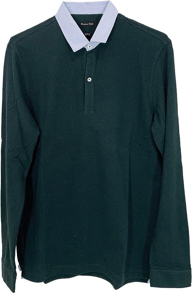 MASSIMO DUTTI 0745/202/501 - Polo de algodón para Hombre Verde M ...