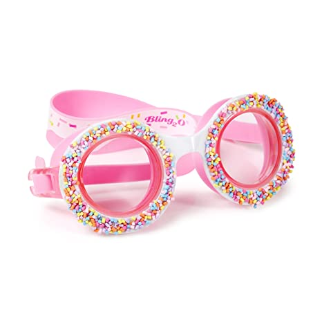 790d903cc857 Kids Swim Goggles by Bling2O - Summer Shaved Ice Design - Round Anti Fog  Goggles with