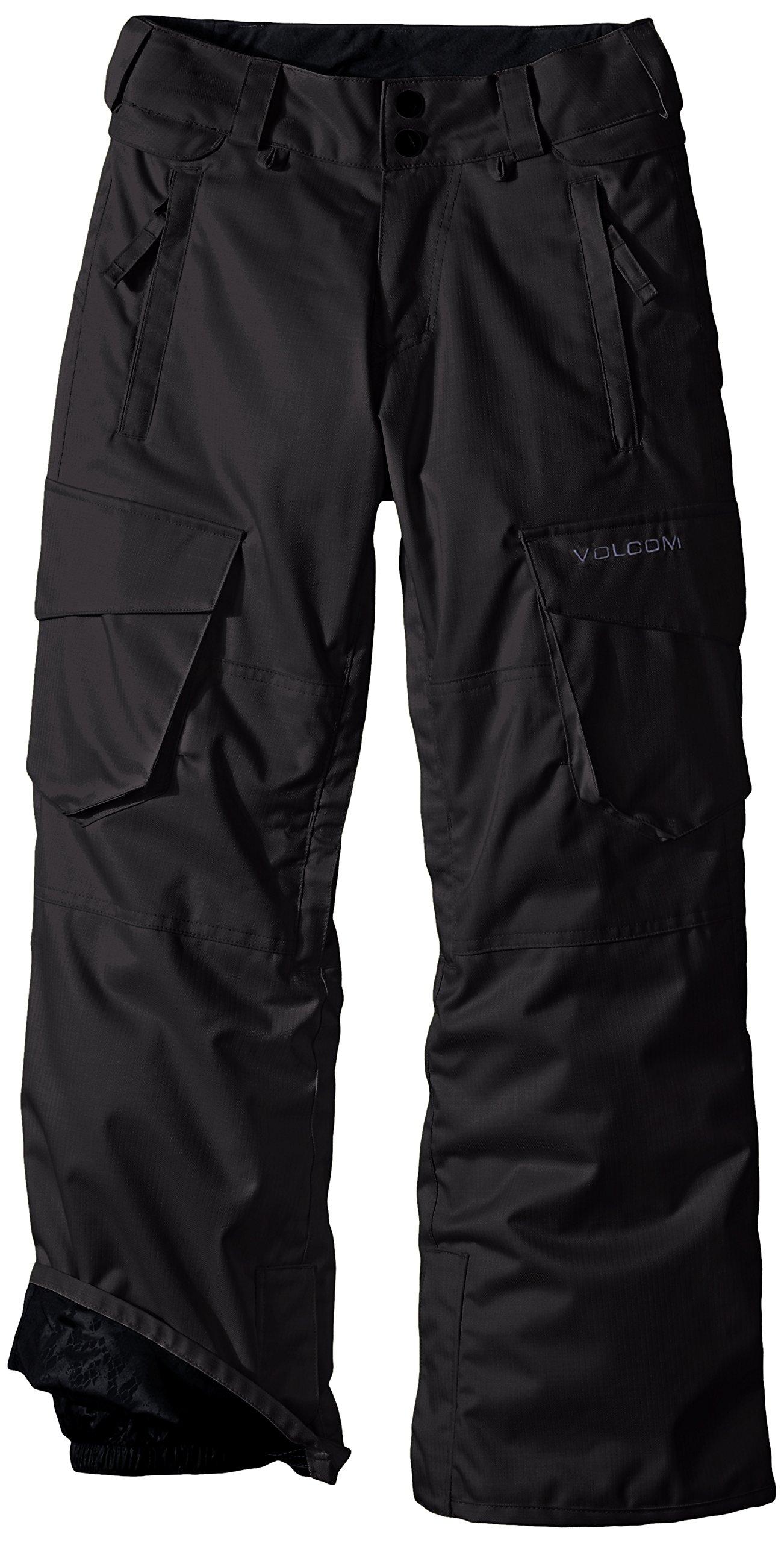 Volcom Big Boys' Folsom Insulated Pant, Black, X-Small