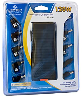 Leotec LENCSHOME08 - Cargador universal para notebook, 120W, color negro