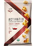 Living Intentions Activated Superfood Popcorn, Gluten Free, Vegan, Organic, Tandoori Turmeric, 4 Ounce