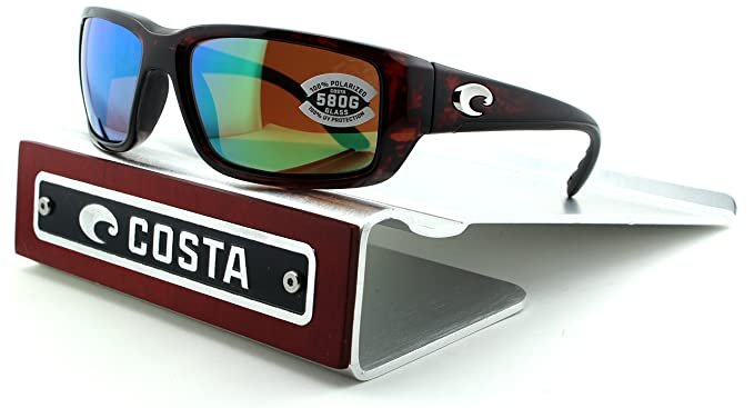 079dc65c5dea8 Image Unavailable. Image not available for. Color  Costa Del Mar Fantail 580G  Tortoise Frame  Green Mirror Lens ...