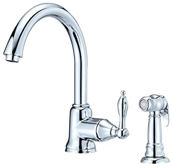 Danze D401540 Fairmont Single Handle Kitchen Faucet With Side Spray