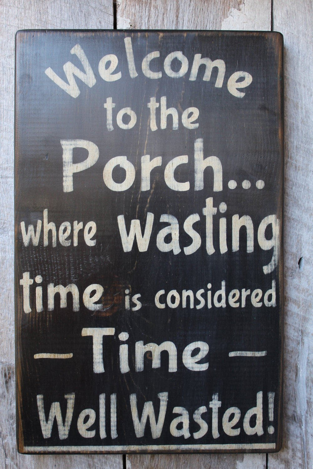 Welcome to the Porch Where Wasting Time Is Considered Time Well Wasted Wood Sign Porch Decor Outdoor Decor Boho House Warming Summer Decor 18 in