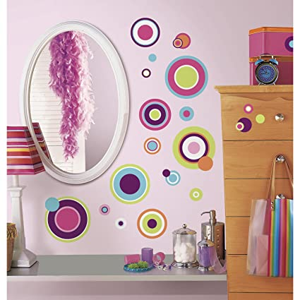 RoomMates RMK2245SCS Crazy Dots Peel and Stick Wall Decals & RoomMates RMK2245SCS Crazy Dots Peel and Stick Wall Decals ...