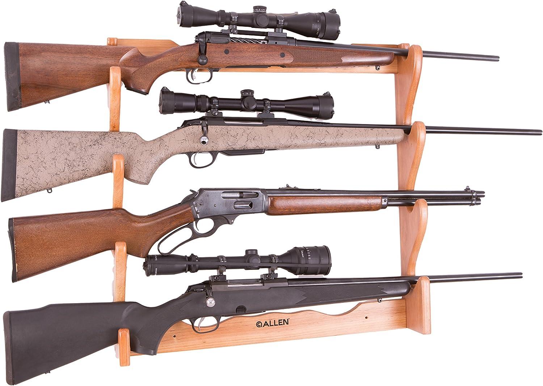 Allen Company 18550 Support en Bois pour 4 fusils Mixte Naturel Taille Unique