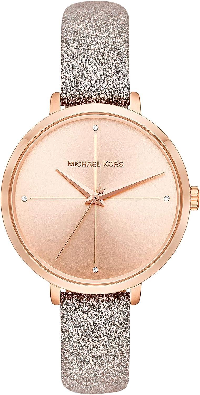 Michael Kors Women's Charley Rose Gold Leather Watch MK2794