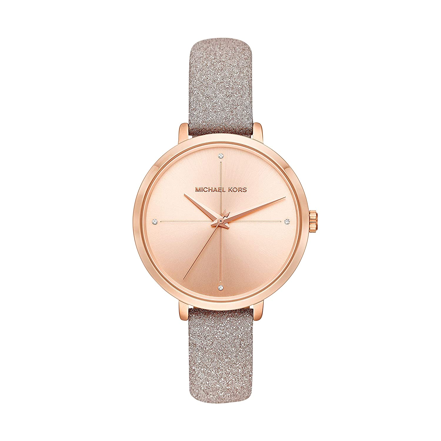57bf9409fbe6 Amazon.com  Michael Kors Women s Charley Rose Gold Leather Watch MK2794   Watches