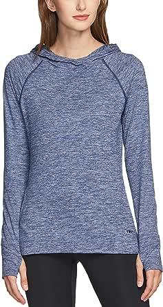 TSLA Women's Long Sleeve Shirts, Lightweight Crewneck & Hooded Pullover Tops, Athletic Sports Running Shirts