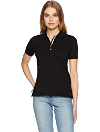 Tommy Hilfiger Women's Polo Shirt Original Flag with Short Sleeves