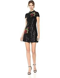 e533e28cc6a bebe Womens Asymmetrical Lace Dress w Diagonal Hem at Amazon Women s ...