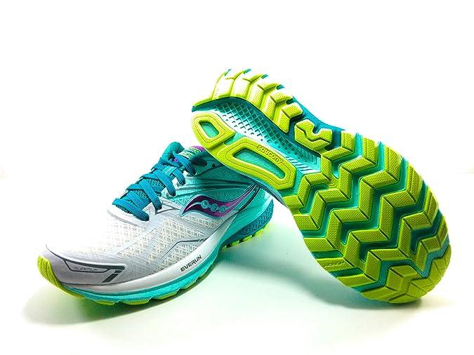 Saucony Ride 9, Zapatillas de Running para Mujer, (Turquesa/Blanco/Púrpura), 38 EU: Amazon.es: Zapatos y complementos