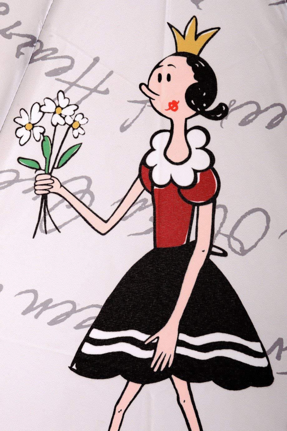 OLIVE OYL Princess /& the Frog Grey Red Printed Umbrella