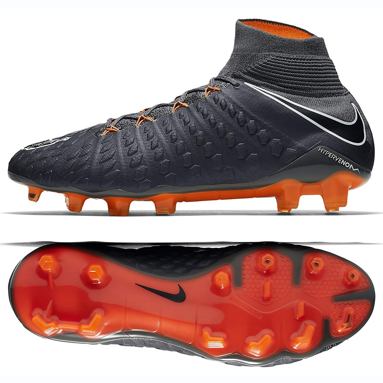 sneakers for cheap c2749 f2caf Nike Hypervenom Phantom 3 Elite DF FG Cleats [Dark Grey] (8.5)