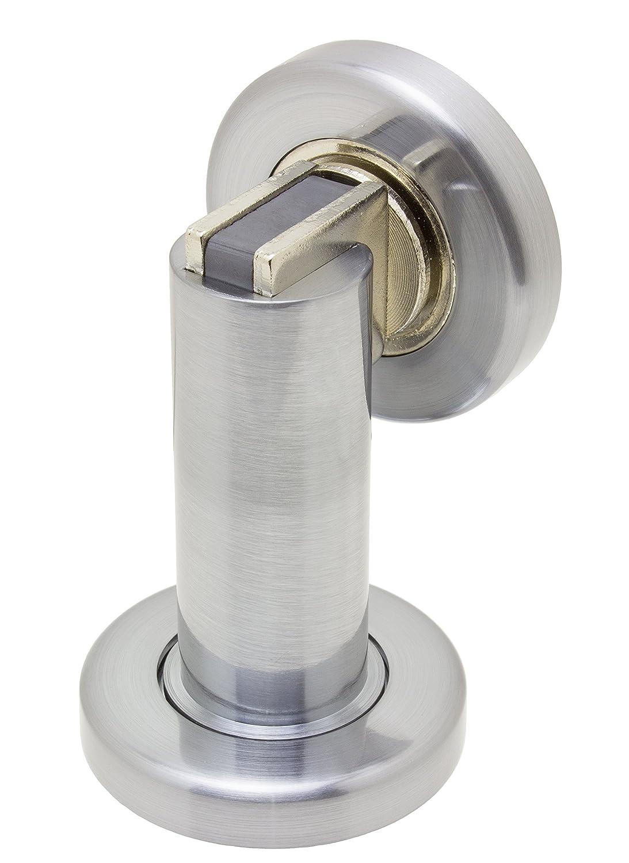 amazoncom  fpl modern door stop  holder and magnetic catch  - amazoncom  fpl modern door stop  holder and magnetic catch  satinnickel  office products