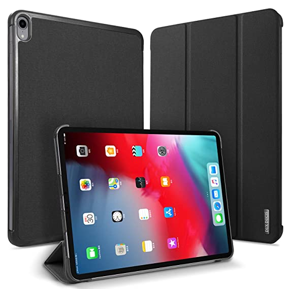 innovative design 95aef 009b3 DUX DUCIS iPad Pro 11'' Case, [Support Apple Pencil Charge] Smart Auto  Sleep/Wake, PC Fabric Folio Shockproof Protection Cover Compatible with  Apple ...