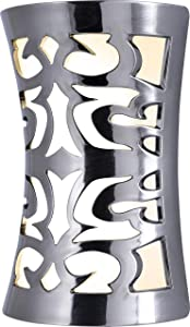 GE Coverlite LED Plug-in, Dusk-to-Dawn Sensor, Auto On/Off, Decorative Night Light, Energy-Efficient, Ideal for Hallways, Kitchens, Bathrooms, Bedrooms, Offices, Brushed Nickel, 11544, Leaves Design