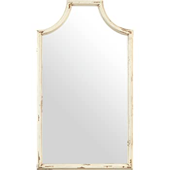 Amazon.com: Sculpted Oval Gray Wood Wall Mirror | Rustic Cottage ...