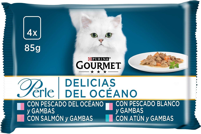 Purina Gourmet Perle comida para gato Delicias del Oceano 12 x [4 x 85 g]