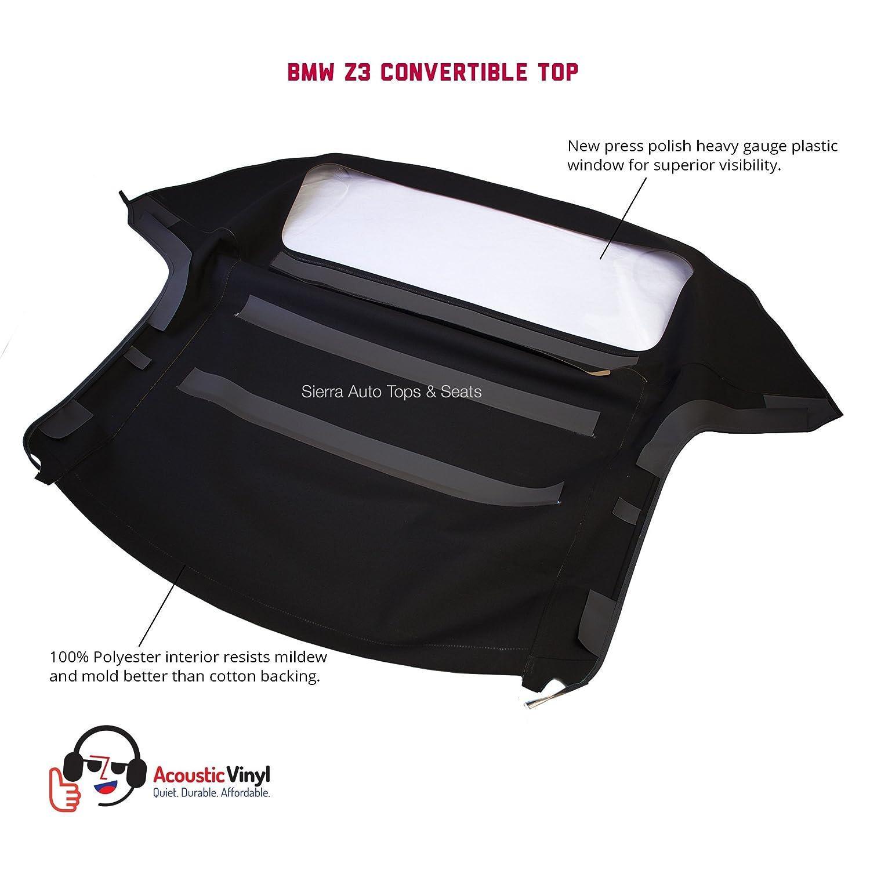 amazoncom bmw z3 convertible top in black trilogy acoustic vinyl with plastic window automotive amazoncom bmw z3 convertible top