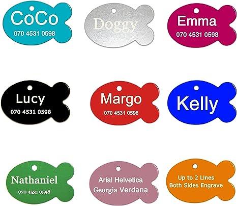 ABIsedrin Etiqueta de identificación de Mascotas para Perros/Gatos ...