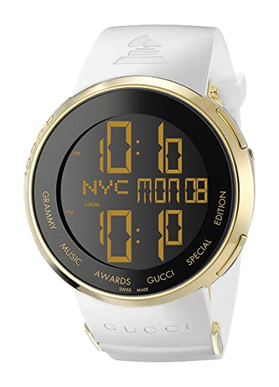 24de156e724 Gucci Men s YA114216 I-Gucci Digital GRAMMY Special Edition White Watch   Amazon.ca  Watches