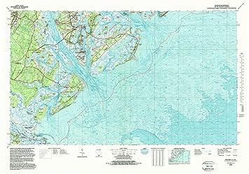 Amazon.com : YellowMaps Beaufort SC topo map, 1:100000 Scale, 30 X ...