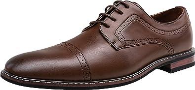 Amazon.com | JOUSEN Men's Dress Shoes Fashion Mens Oxfords Formal Business  Shoes Modern Derby Oxford | Oxfords