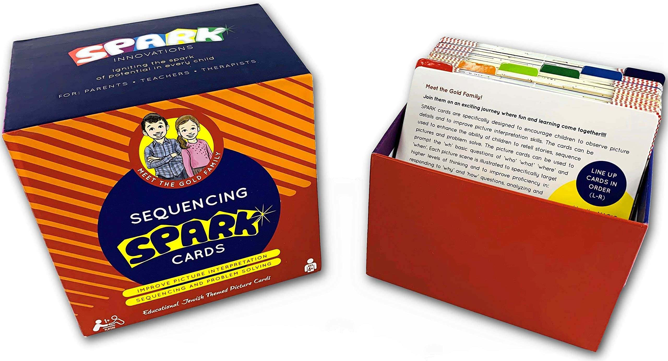 Sequencing Cards For Storytelling and Picture Interpretation - JEWISH THEMED Story Cards Speech Therapy Game, Problem Solving, Special Education, Includes Shabbos, Chanukah and Purim Stories by SPARK INNOVATIONS
