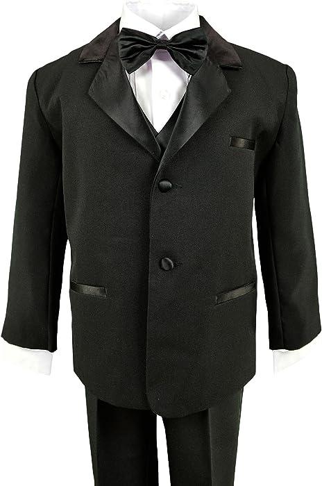 Spring Notion Baby Boys Black Classic Fit Tuxedo Set No Tail ERF202-SNB-202.BK