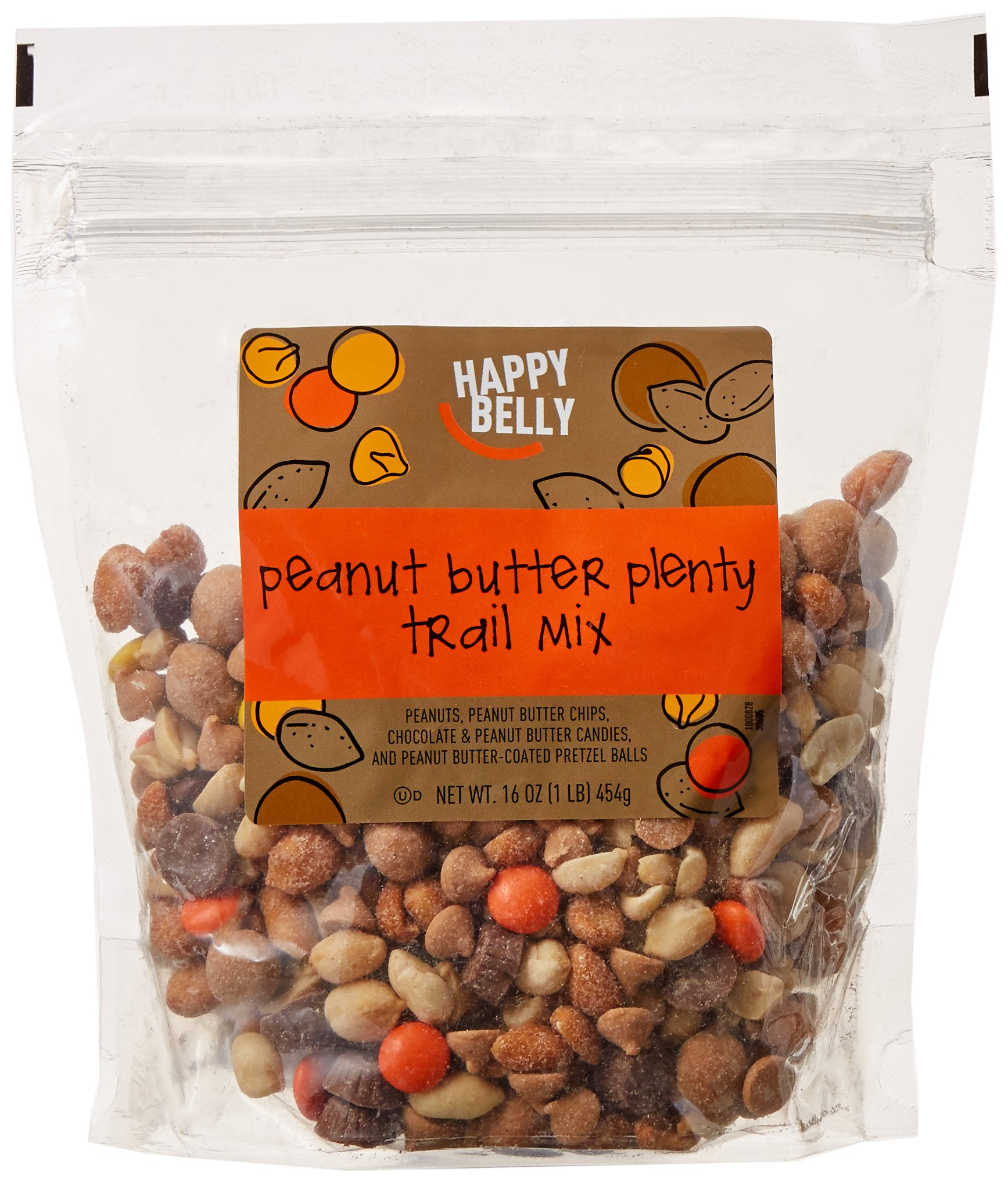 Amazon Brand - Happy Belly Amazon Brand Peanut Butter Plenty Trail Mix, 16 ounce