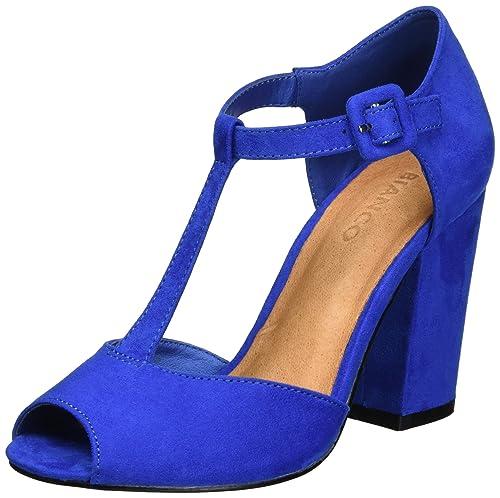 Open Shoe Exp16 Mary Jane, Sandalias Para Mujer, Plateado, 37 EU Bianco
