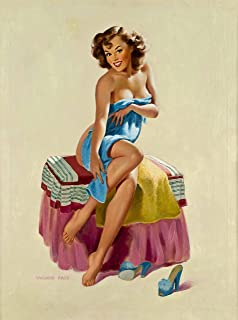 Amazon Com A Slice In Time 1940s Pin Up Girl Knitting A Sweater
