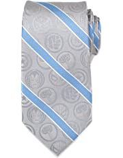 Marvel Marvel Comics Grey and Blue Stripe Men's Tie Officially Licensed