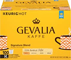 GEVALIA Signature Blend Keurig K-Cup Coffee Pods (100 Count) | 100% Arabica Beans | Mild & Medium Bodied Coffee with...
