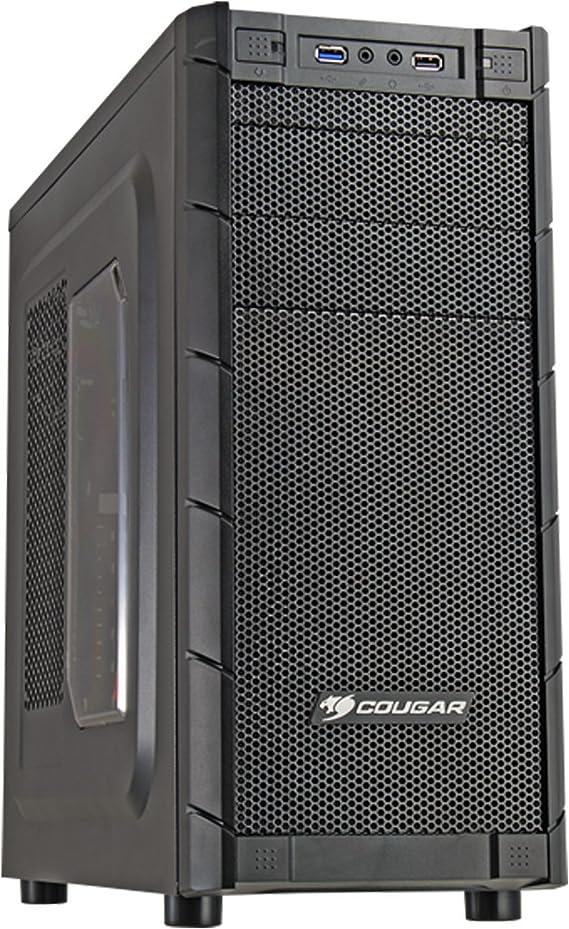 COUGAR Gaming Archon Carcasa de Ordenador Midi-Tower Negro - Caja de Ordenador (Midi-Tower, PC, Negro, ATX,Micro ATX, 16,5 cm, 31 cm): Amazon.es: Informática