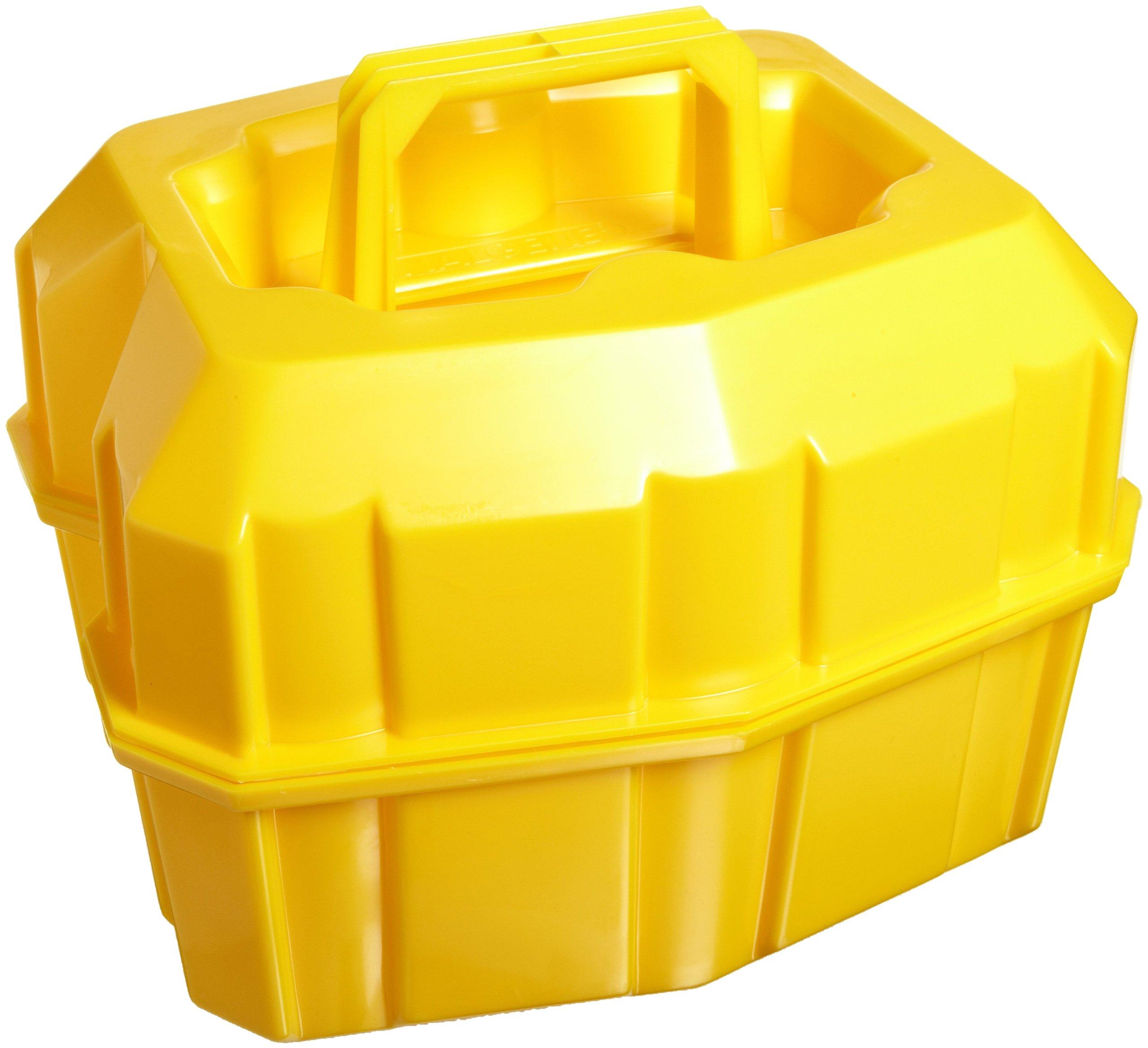 Nalgene 6505-0010 Low-Density Polyethylene (LDPE) Safety Half-Liter Bottle Carrier, 6-Place, Stackable