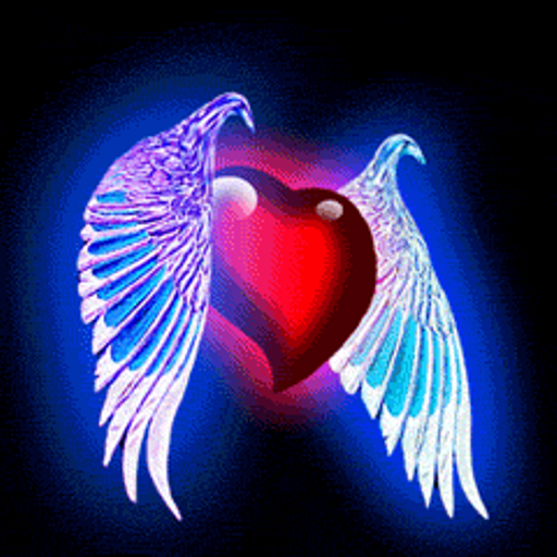 amazon com heart with wings live wallpaper appstore for android rh amazon com pictures of hearts with wings to color Heart with Wings Clip Art