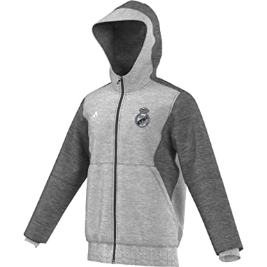 6e2217c15 Adidas Mens Real Madrid FC Training Hooded Sweatshirt Medium Grey Heather  AA6880 Size 2X-Large