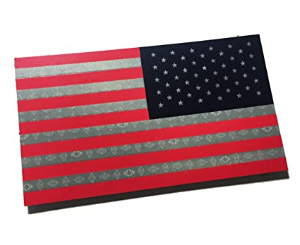 49e721a9014 Amazon.com   Reversed Full Color Reflective (Sandstorm Technology) US USA  Flag Military Patch 3.5x2