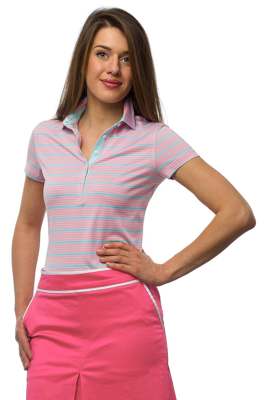 JELFY Chiara geringeltes Golf Mujer Polo 100% Pima de algodón ...