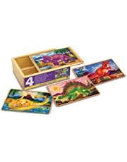 Melissa&Doug 13791 Wooden -Puzzles in a Box, Multicoloured