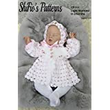 Baby Jacket and Bonnet, 0 to 3 Months, Crochet Pattern