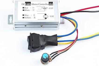 10A 9-60V DC motor Speed Controller 9-60V Reversible PWM Control Forward//Reverse