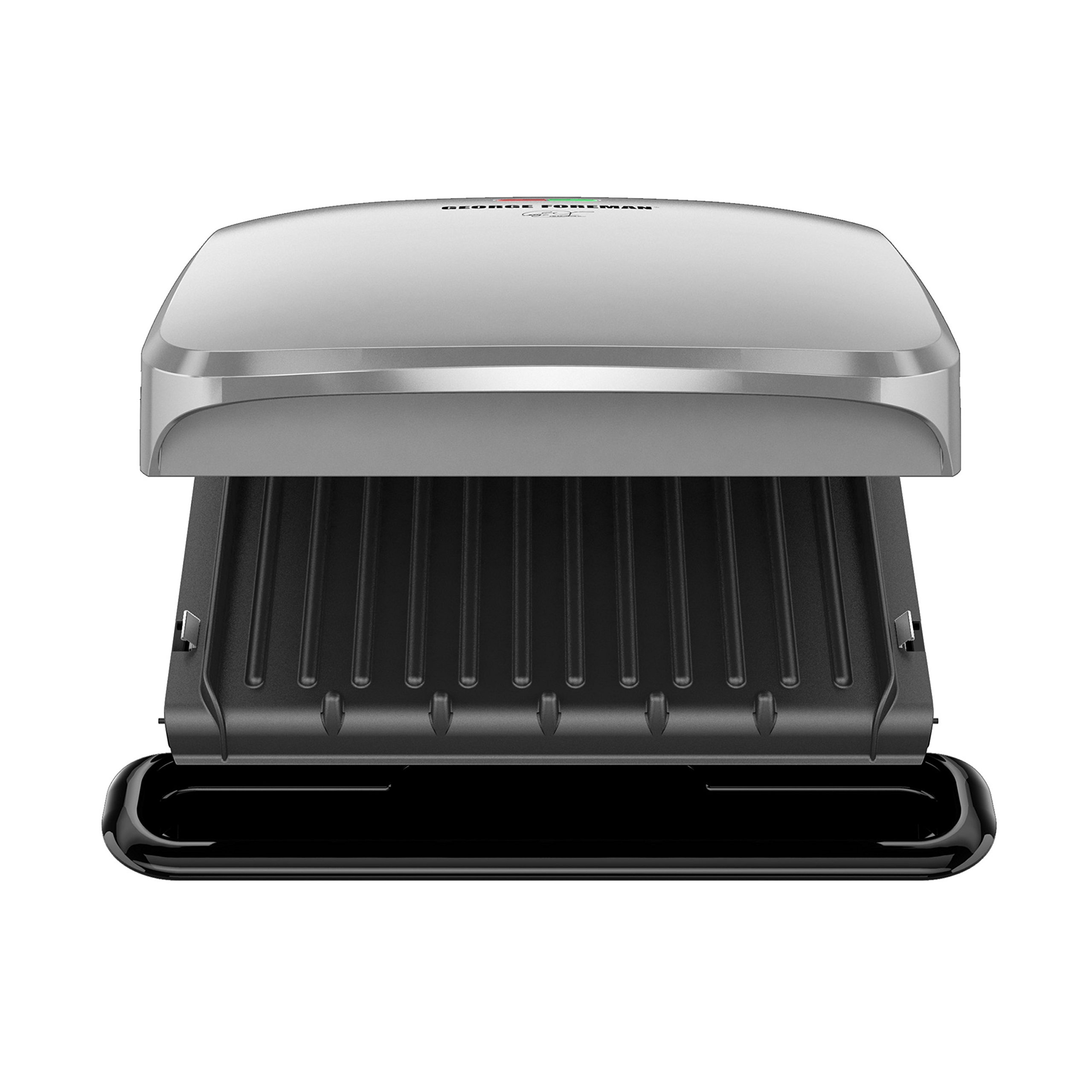 George Foreman 4-Serving Removable Plate Grill and Panini Press, Platinum, GRP3060P by George Foreman (Image #8)
