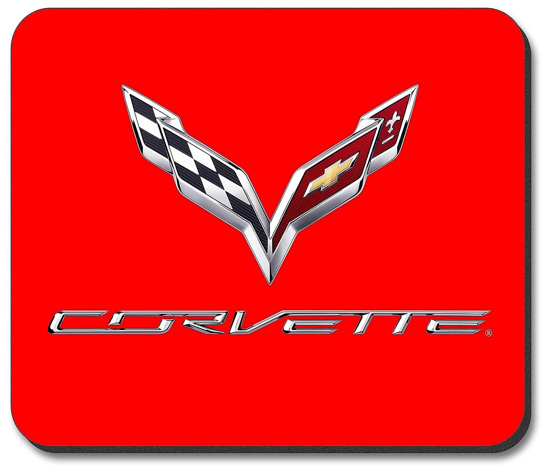 Corvette C7 Logo (Red) - Mouse Pad Art Plates GM-195-MP
