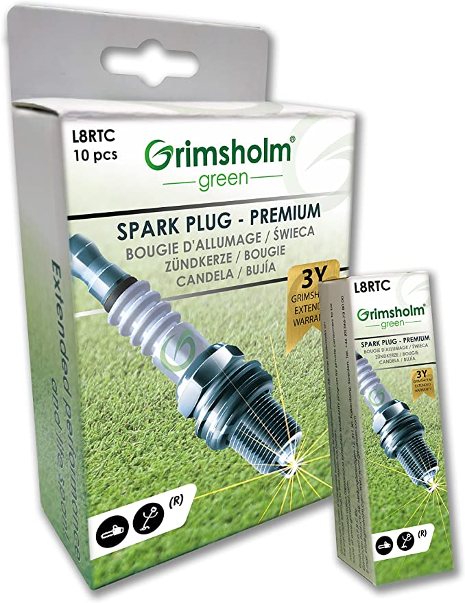 Spark Plug L8rtc Chainsaw Lawn Trimmer Free Cutter Resistance Amazon De Baumarkt