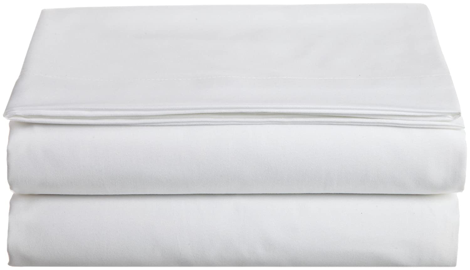 Cathay Home Hospitality Luxury Soft Flat Sheet of 100-Percent Microfiber Construction, Full Size, White Color Cathay Home Fashions 108071-FL-F