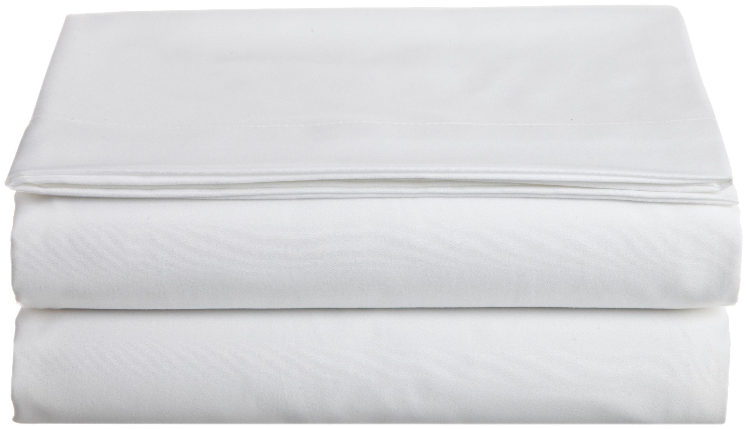 Cathay Home Hospitality Luxury Soft Flat Sheet of 100-Percent Microfiber Construction, King Size, White Color