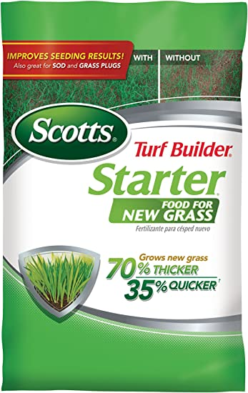 Scotts Turf Builder Starter Food, Also Great for Sod and Grass Plugs - Best Lawn Fertiliser For New Grass